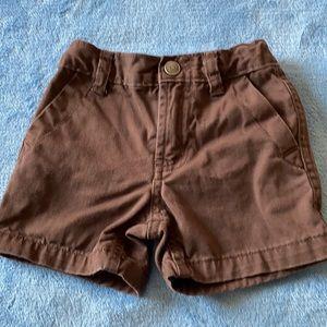 Boys Carter's brown shorts 12 mo